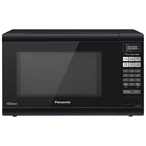 (Panasonic Microwave Oven NN-SN651B Black Countertop with Inverter Technology and Genius Sensor, 1.2 Cu. Ft, 1200W)
