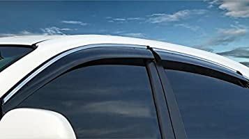 BeHave yd314w Car Wind Deflector,Car Window Rain Guards,Auto Windows Visors,Window Protective Cover,Automobile Window Deflector Guard Fit For Honda CR-V 2017,Pack of 4 Pieces Chrome Windows Visors