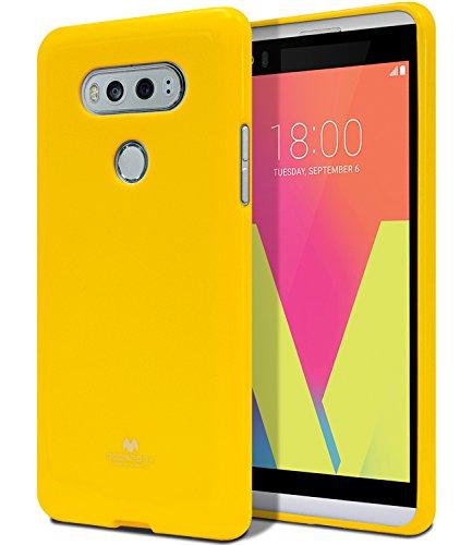 Goospery Pearl Jelly for LG V20 Case (2016) Slim Thin Rubber Case (Yellow) LGV20-JEL-YEL