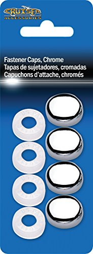 Cruiser Accessories 82630 License Plate Frame Fastener Caps, Chrome by Cruiser Accessories (Image #1)
