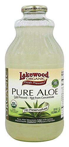 (Lakewood, Organic Pure Aloe Juice, 32 Oz)