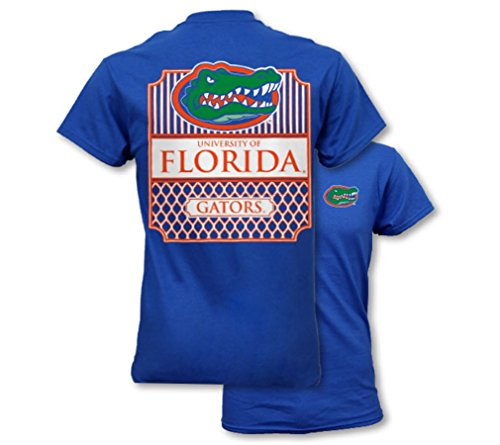 Southern Couture SC Collegiate Preppy University of Florida Womens Classic Fit T-Shirt - Royal Blue, Large
