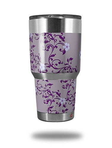 Skin Victorian Air - Skin Decal Wrap for RTIC Tumbler Original 30 oz Victorian Design Purple (TUMBLER NOT INCLUDED) by WraptorSkinz