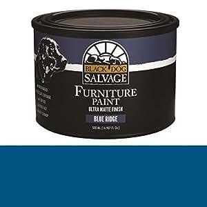 Black Dog Salvage Blue Ridge (Blue) Furniture Paint, 500ml (16.907 fl. oz.)