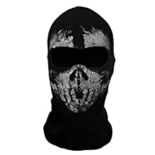 "SODIAL(R) Round neck mask Hood ""Ghost Skull"" -Call Of Duty Modern Warfare - Airsoft Paintball motorcycle Outdoor color # 7"