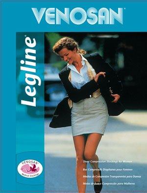Legline Super Sheer 20-30mmHg Women's Sheer Stocking Pantyhose Closed Toe Color: Black, Size: Medium ()