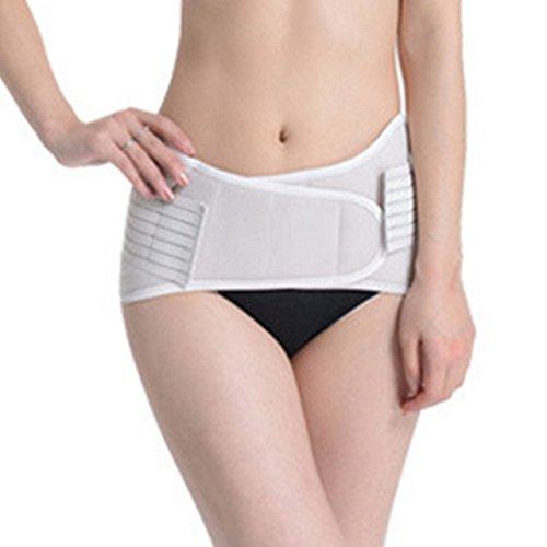 Aivtalk Damen Taillengürtel Schutz Elastische Bauchgürtel Re-Shaping Hüftgurt Shapewear Slimming Postnatal Erholung Bauchweg Gürtel Fitnessband 2 in 1 Größe L - Beige
