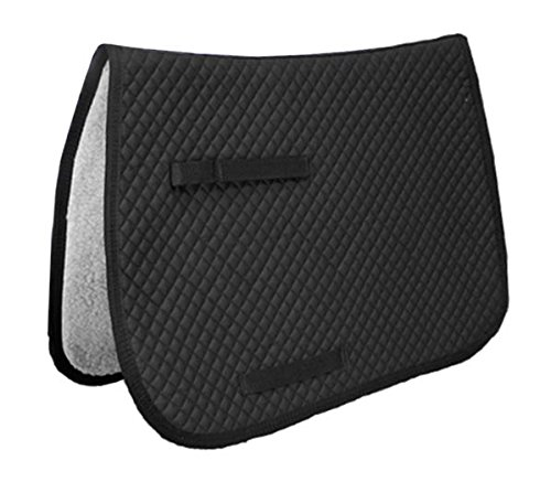 Derby Originals All Purpose Quilted English Saddle Pad with Fleece Lining, Black (Purpose Saddle Quilted Pads)