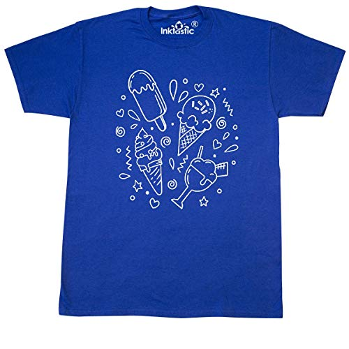 inktastic So Many Different Ice Cream Choices T-Shirt X-Large Royal Blue