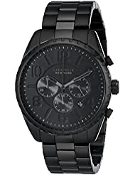 Caravelle New York by Bulova Mens 45B122 Analog Display Japanese Quartz Black Watch