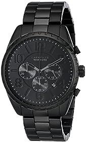 Caravelle New York by Bulova Men's 45B122 Analog Display Japanese Quartz Black Watch