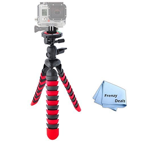"""12"""" Inch Tripod w/ Flexible Spider Disc Legs with Quick Rele"""