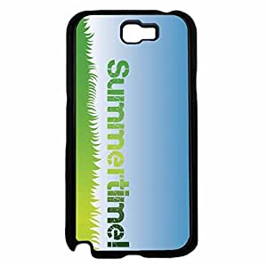 Green Blue Summer Time Plastic Phone Case Back Cover Samsung Galaxy Note II 2 N7100
