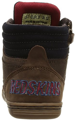 Redskins Crapi, Jungen Sneaker Blau - Bleu (Marine/Marron/Rouge)