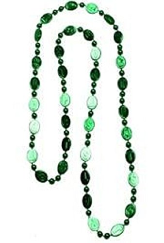 St Patrick's, St Pats Stamped Green Beads, 20