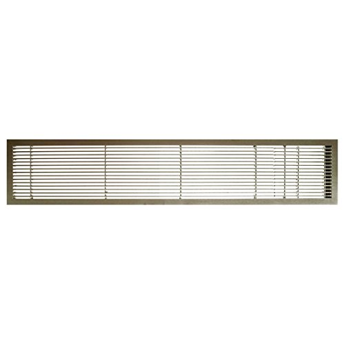 Architectural Grille 100064816 AG10 Series 6'' x 48'' Solid Aluminum Fixed Bar Supply/Return Air Vent Grille, Antique Bronze Finish with Door by Architectural Grille