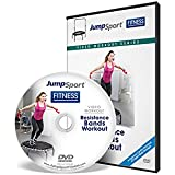 JumpSport Fitness Trampoline Workout DVDs | Cardio Focused | Resistance Bands and Handle Bar Options Available