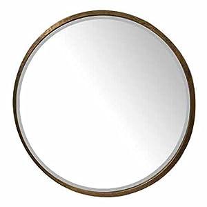 EMDE Miroir Rond en métal doré D.80cm LYANA