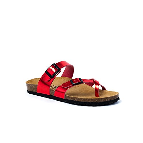 PLAKTON Women's Clogs & Mules Red RHqum