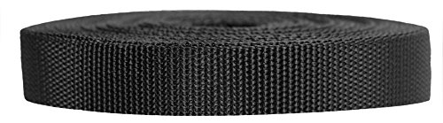 (Strapworks Heavyweight Polypropylene Webbing - Heavy Duty Poly Strapping for Outdoor DIY Gear Repair, 3/4 Inch x 10 Yards, Black)