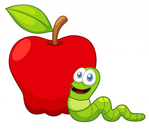 wallmonkeys-illustration-of-cartoon-worm-with-apple-peel-and-stick-wall-decals-wm174402-18-in-w-x-16