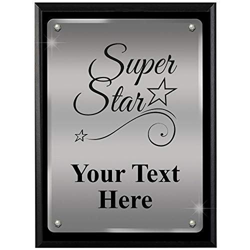 Star Acrylic Plaque - Crown Awards Corporate Appreciation Plaques - 8 x 10 Super Star Ascendant Floating Acrylic Recognition Trophy Plaque Award Prime