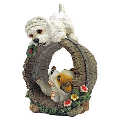 Design Toscano Playful Puppy Dogs Statue, Multicolored