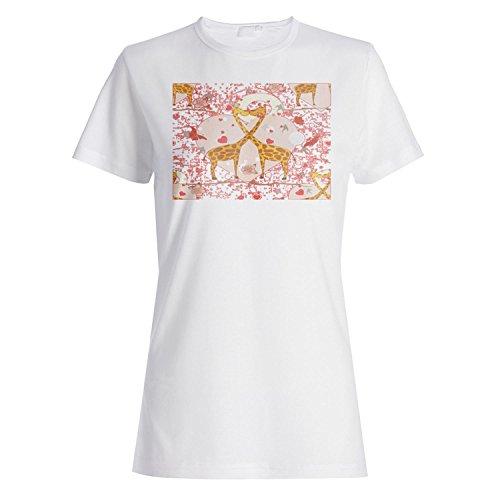 Ich liebe dich Paar Neuheit lustige Vintage Kunst Damen T-shirt zz11f