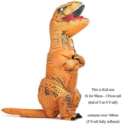 GOPRIME T Rex Costume, Dino Theme Party Dress, Dinosaur Costume