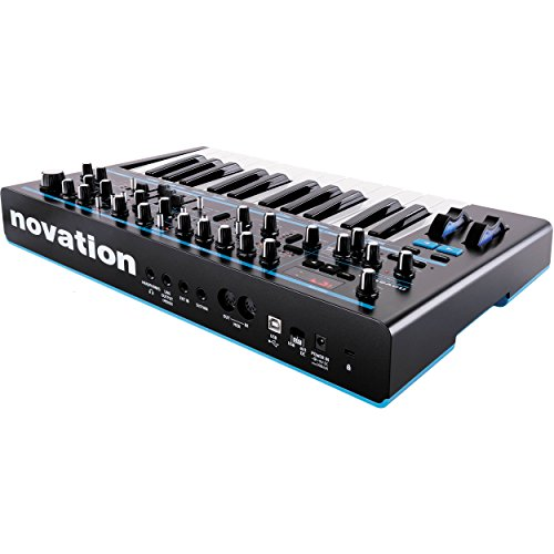 Novation Bass Station II Monophonic Analog Synthesizer and Bundle with Cables + Tascam Headphones + Fibertique Cleaning…