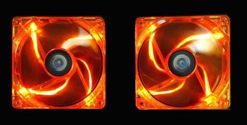 Orange Case Fan (APEVIA AF212L-OG 120mm 4pin+3pin Silent Orange LED Case Fan (2-pk))