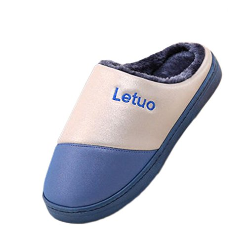 Familia Zapatillas Algodón Impermeables Home Blue Calientes deep Transpirable Suelo Winter De Interior Antideslizante Temptation Black taq8ww