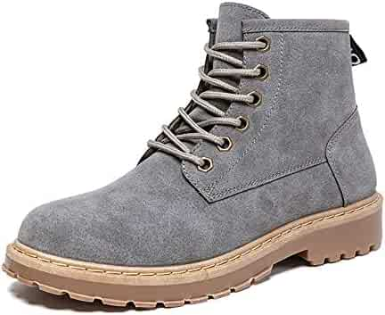 c050ce2c91be XIANGBAO-Personality Casual Simple and Prosperous Retro Heights Top Boot  Men's Fashion Ankle Work Boot