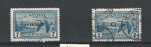 Canada, Postage Stamp, CO1-CO2 Used, 1949-50 Duck, JFZ