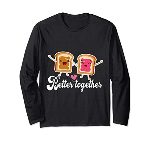 Better Together Funny Peanut Butter Jelly Sandwich T-Shirt
