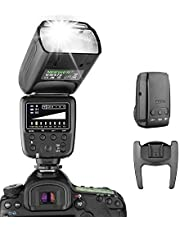 Neewer Flash Speedlite with 2.4G Wireless System and 15 Channel Transmitter for Canon Nikon Sony Panasonic Olympus Fujifilm Pentax and Other DSLR Cameras with Standard Hot Shoe (NW570)