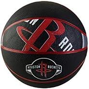 "Spalding NBA Courtside 29.5"" Basketball - Houston Rockets, Red/Black, Size 7 (71"