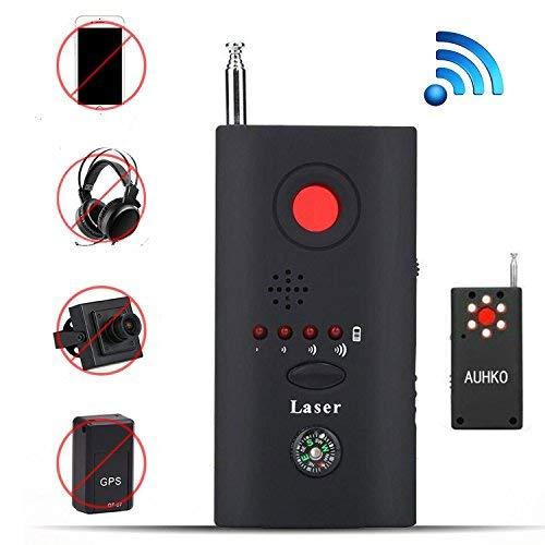 (RF Signal Detector, Auhko Wireless Camera Lens Detector Radio Wave Signal Detect Mini Camera Full-range WiFi RF GSM Device Finder )