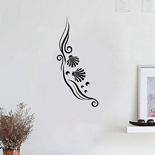 (Wall Stickers Decal Removable Vinyl Decal Quote Art French Quote Coquillages Et Perles Pour La Salle De Bain Seashells and Pearls for Bathroom)