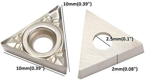 PIKA PIKA QIO 10pcs TCGT110204-AK H01 / TCGT21.51-AK H01 Einsätze for STFCR11 for Aluminium Gebraucht Drehwerkzeuge