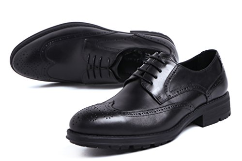 Black MEbox Oxfords Shoes British Casual Style Men's Dress Leather vRrv8wq