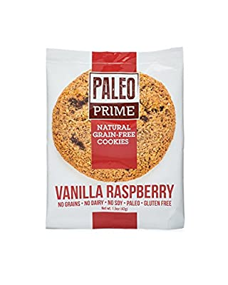 Paleo Prime Vanilla Raspberry Cookie - 12 ct