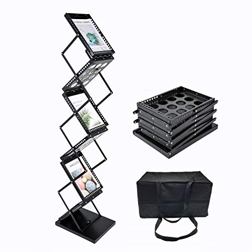 Literature Rack - Polmart Brochure Magazine Catalog Literature Display Rack, 6 Pockets