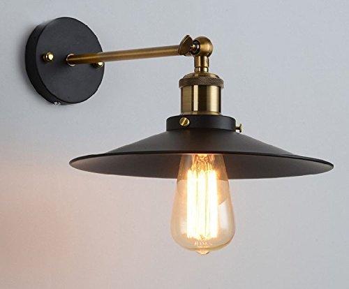 Vintage retrò luce da parete appliques abat jour stile industriale