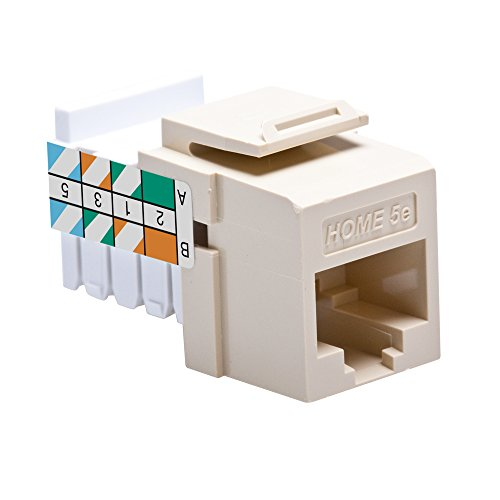 Leviton 5EHOM-RI5 Home 5e Snap-In Connector, T568A/B Wiring, - Snap Quickport
