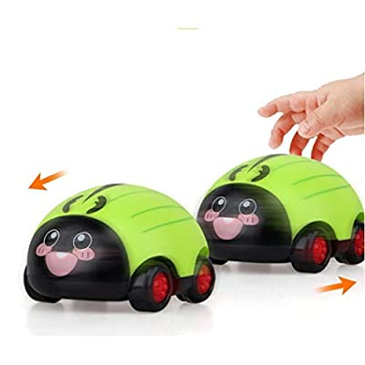 Shonlinen Small Cute Cartoon Insect Pull Back Car Toys - Pull Back Car Toys for Toddlers Kids Boys Girls,1Pcs: Home & Kitchen