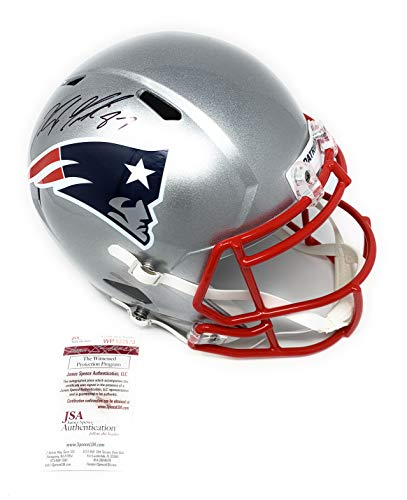 Rob Gronkowski New England Patirots Signed Autograph Speed Full Size Replica Helmet JSA Witnessed Certified
