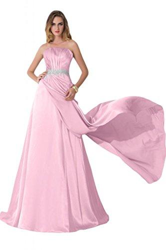 Custom made–sunvary ondulada Crystal appliques Charmeuse Prom Noche Fiesta Rosa