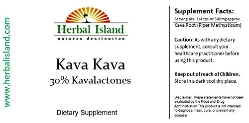 1 LB Kava Kava Root Instant Extract Powder (30% Kavalactones) Vanuatu Kava with Free Shipping by Herbal Island (Image #1)