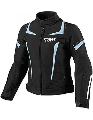 1bb3b1f122c JET Chaqueta Moto Mujer Textil Impermeable con Armadura (L (ES 40-42)
